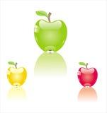 Farbenäpfel Stockfotos