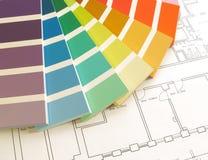 Farben-Anleitung stockfotos