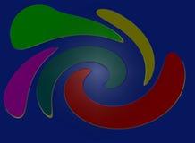 Farben auf Blau Lizenzfreie Stockfotografie