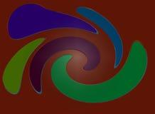 Farben auf Brown Lizenzfreies Stockfoto