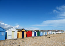Farben auf dem Strand Stockfotografie