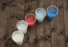 Farben auf der Planke Stockfotografie