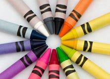 Farben auf Weiß Lizenzfreie Stockfotos
