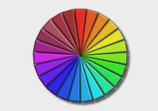 Farben auf Weiß Stockfoto