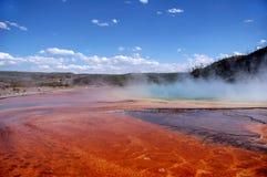 Farben-Bänder, Schlamm-Ebenen u. Tourist Stockfoto