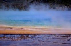 Farben-Bänder und Dampf Stockfotografie