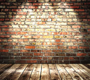 Farben-Backsteinmauer Lizenzfreies Stockbild