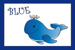 Farben: blau Stockbild