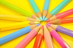 Farben-Bleistift Stockfotografie