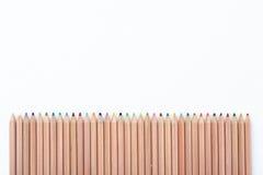 Farben-Bleistift-Zaun Stockfoto