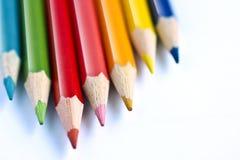 Farben-Bleistifte Stockbilder