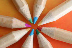 Farben-Bleistifte Lizenzfreie Stockfotos