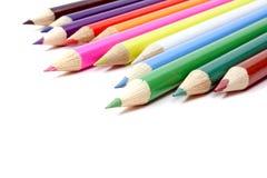 Farben-Bleistifte Stockfotos