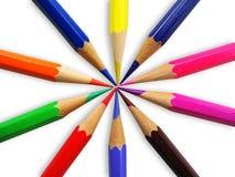Farben-Bleistifte Lizenzfreie Stockfotografie