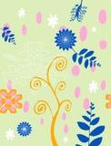 Farben-Blumenhintergrund Stockbilder