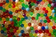 Farben, bunter Glasperle-Hintergrund Stockbilder