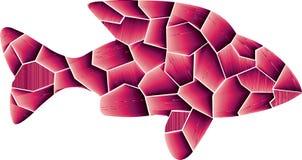 Farben 3D des Rosas und Einsame Fische lizenzfreie abbildung