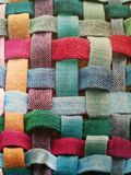Farben in den Linien von Baumwolle Stockfotografie