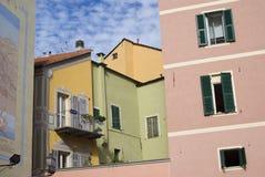 Farben der alten Mittelmeerarchitektur Stockbild