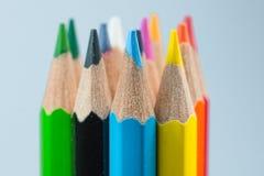 Farben der Farbtonbleistifte Stockbilder