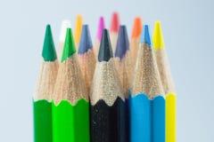 Farben der Farbtonbleistifte Stockbild