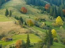Farben der Herbstberge Stockbilder