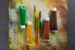 Farben der Natur - Mischung von Grünem, von Gelbem und von Braunem - Haupt oder Stockbilder
