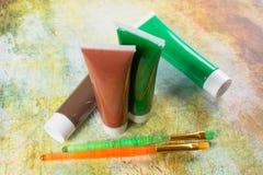 Farben der Natur - Mischung von Grünem und von Braunem - Haupt oder des Büros Lizenzfreie Stockfotografie