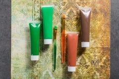 Farben der Natur - Mischung von Grünem und von Braunem - Haupt oder des Büros Stockfotos