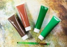 Farben der Natur - Mischung von Grünem und von Braunem - Haupt oder des Büros Lizenzfreies Stockbild