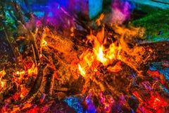 Farben des Feuers stockfotos