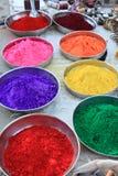 Farben des glücklichen heiligen Festivals Indien Stockfotografie