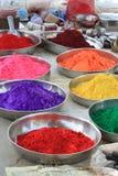Farben des glücklichen heiligen Festivals Indien Stockbild