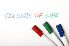Farben des Lebens Lizenzfreie Stockbilder