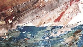 Farben des verlassenen Bootes in Korfu, Griechenland lizenzfreie stockfotografie