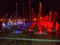 Farben des Wasserbrunnens Kasan 2016 Stockbilder