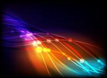 Farben, die abstrakt glühen Stock Abbildung