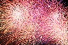Farben-Durcheinander, Feuerwerk. Stockfotografie