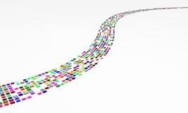 Farben-eMail-Strom Stockfoto
