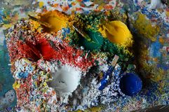 Farben für das Malen Stockbilder