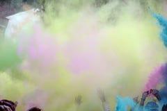 Farben am Farblaufrennen lizenzfreies stockfoto