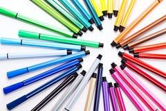 Farben-Feder Stockfoto