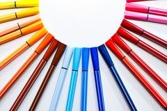 Farben-Feder Stockbilder