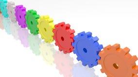 Farben-Gänge Stockfoto