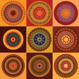 Farben-Hennastrauch-Mandala Lizenzfreie Stockfotografie