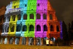 Farben im Colisseum Lizenzfreies Stockfoto