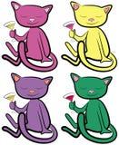Farben-Katzen Stockfotografie