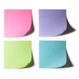 Farben-klebrige Papier-Anmerkung Stockfotografie