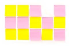 Farben-Papieranmerkung Lizenzfreies Stockfoto