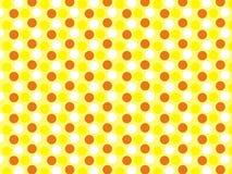 Farben Polcadot-Kunst 3 färben Tapete gelb lizenzfreies stockbild
